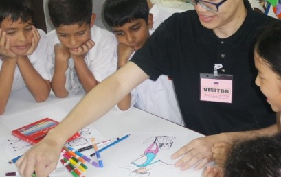 KIS Art Week Starts With Cartoon & Caricature Workshops