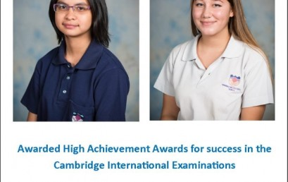 KIS Students Recognised by Cambridge International Examinations